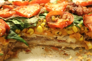 Spinach Enchilada Casserole/nourishyourselfnow.com