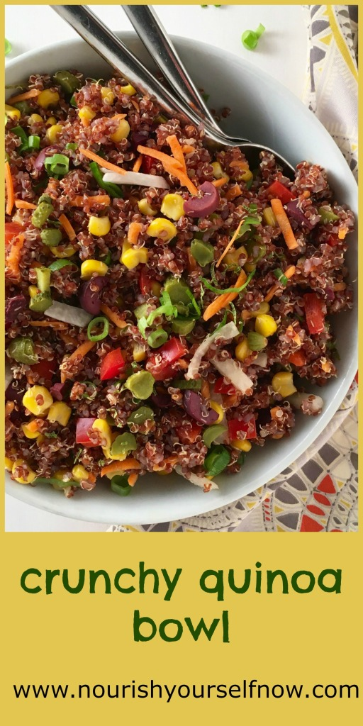 Crunchy Quinoa Bowl/nourishyourselfnow.com