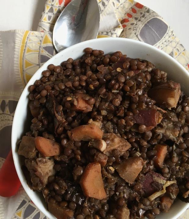 Black Beluga Lentil Stew/nourishyourselfnow.com