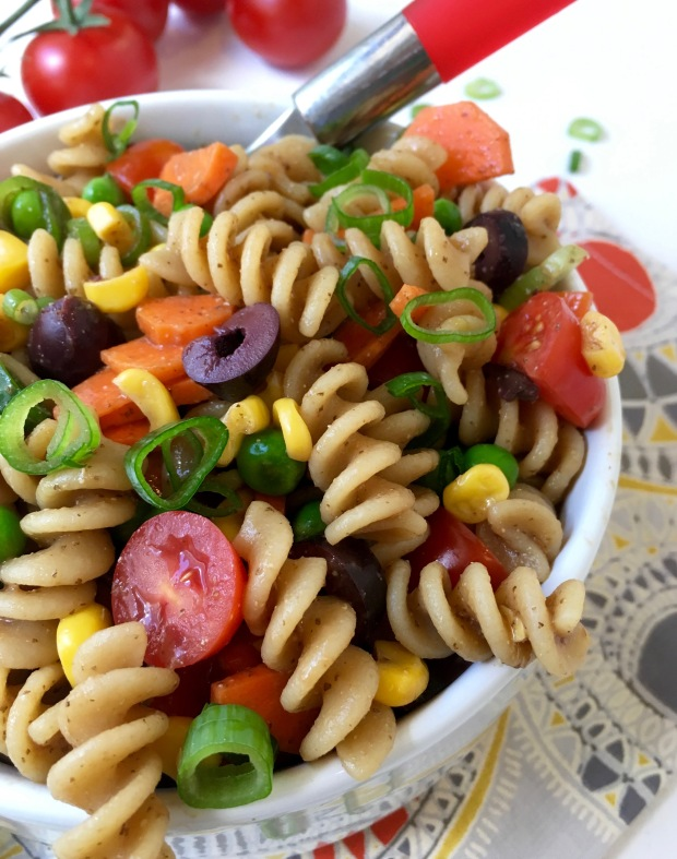 Veggie Pasta Salad/nourishyourselfnow.com