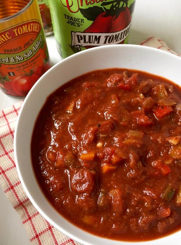 Chunky Tomato Sauce/nourishyourselfnow.com