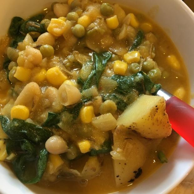 InstantPot Potato Veggie Stew/nourishyourselfnow.com